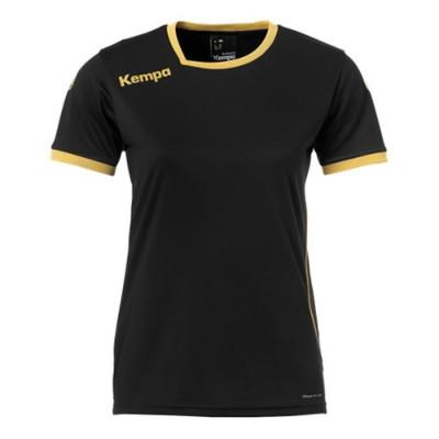 ケンパ カーブ ゲームシャツ ブラック/ゴールド レディース