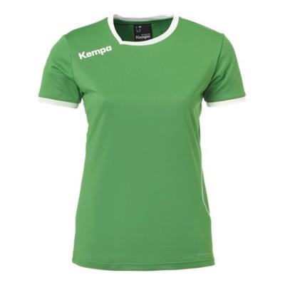 ケンパ カーブ ゲームシャツ グリーン/ホワイト レディース